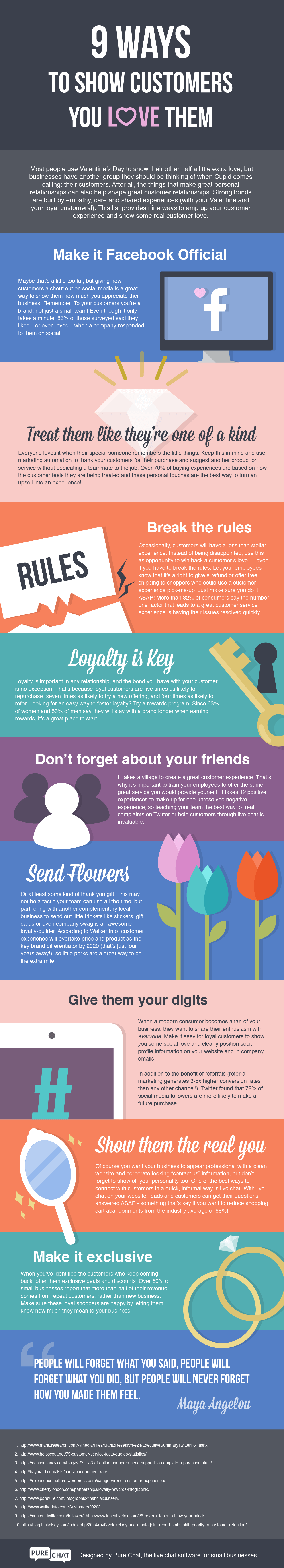 9 Ways to Show Customers Love Infographic